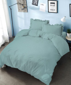Bed Cover Set D'luxe T30 Embossed Aqua | D'LUXE