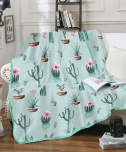 Selimut Flannel - Cactus