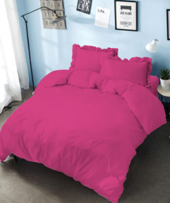 Bed Cover Set D'luxe T30 Embossed Pink Magenta | D'LUXE