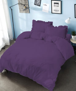 Bed Cover Set D'luxe T30 Embossed Royal Violet | D'LUXE