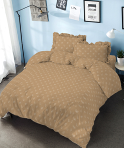 Bed Cover Set D'luxe T30 Embossed Twill Brown | D'LUXE