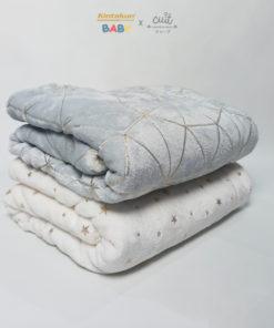Sherpa Foil Baby Blanket 76 x 102   KINTAKUN BABY