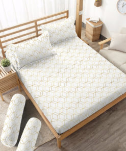 Sprei Fitted DLUXE GOLD Monochrome | D'LUXE