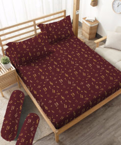 Sprei Fitted DLUXE GOLD Musical | D'LUXE