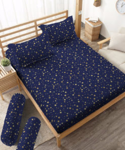 Sprei Fitted DLUXE GOLD Stardust   D'LUXE